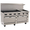 "New Endurance Gas Range - 72""W, 8 Burners, 1 Standard, 1 Convection Oven, 24"" Manual Griddle"