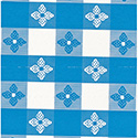 Marko 51511554L002 Classic Series Tablecloth Check 15 YD Roll - Blue