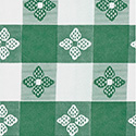 "Marko 51515252SM064 Classic Series Tablecloth Check 52"" x 52"" - Forest Green"