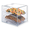 Acrylic Bakery Display Case, Single Back Door, Straight Front, Two Trays