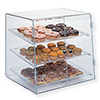 Acrylic Bakery Display Case, Doors in Front, Slant Front, Three Trays