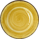 "Carlisle 5400213 MINGLE 9"" SALAD PLATE-AMBER, DZ of 1/DZ"