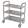"Stainless Steel Cart - 3 Shelves, 400 lb. Capacity, 9-1/2"" Shelf Clearance"