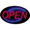 Oval LED Sign - Open