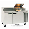 "Pizza Prep Table - Deluxe 114""W, 30.9 Cu. Ft."