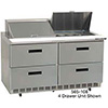 "Drawer Salad, Sandwich Table - Deluxe Front Breathing 4 Drawers, 48""W, 2.7 Cu. Ft."