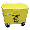 Central Exclusive 2635-3G-970 35 Qt. Mop Bucket, in Gray or Yellow