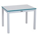 "Jonti-Craft 57612JC005 Rainbow Accents Multi-Purpose Rectangle Table - 12"" High - Teal"