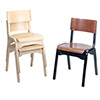 Carlo Wood Stack Chair