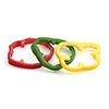 "Artificial Bell Pepper Rings - 3-5/6""Diam.x1/2""H"