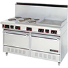 "Garland SS-684-24G - Electric Range, 60""W, 6 Burners, 2 Ovens, 24"" Griddle"