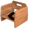 Wood Booster Chair with Seatbelt