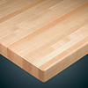 "Wood Goods 1060 Series Maple Wood Table Top, 1-1/2"" Butcherblock Top With 1/4"" Eased Edge"