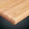 Wood Goods 1060 Series Maple Wood Table Top, Butcherblock Top With Full Bullnose Edge