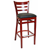 "Ladder Back Style Barstool - 30-1/2"" Seat Height"