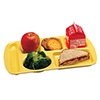 6 Compartment Cafeteria Tray, Melamine - Left Hand Use