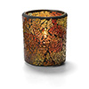 "Crackle Glass Lamp - Votive, 3""Diam.x3-1/4""H"