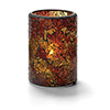 "Crackle Glass Lamp - Cylinder Lamp, 3-1/8""Diam.x4-1/2""H"