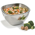 "Carlisle 609211 Square Bowl w/Hammered Finish 3.5 qt, 10"" - Stainless Steel, EA of 2/CS"