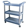 "Bussing and Utility Cart - 3 Shelves, 31""Wx16""Dx37""H"