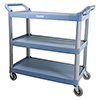"Bussing and Utility Cart - 3 Shelves, 40""Wx20""Dx38""H Overall"