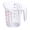 Polycarbonate Measuring Pitcher - 1/2 Quart Capacity
