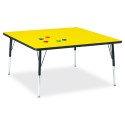 "Jonti-Craft 6418JCA187 Berries Square Activity Table - 48"" X 48"", A-height - Yellow/Black/Black"