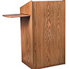 Maitre D' Stands Full Floor Stand with Slide Out Shelf