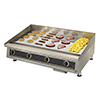 "Commercial Griddle - 48"" W Ultra-Max Heavy Duty Gas 4 Controls, 120,000 BTU"