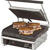 "Panini Grill - Cast Iron 14""Wx10""D Grooved Cooking Surface"