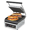 "Panini Grill - Cast Iron 10""Wx10""D Grooved Cooking Surface"