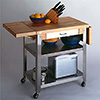"Serving Cart with Cutting Board Two 10"" Dropleafs"