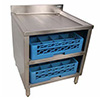 "Underbar Glass Rack Storage Cabinet - Holds 2 Racks, 24""W"
