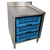 "Underbar Glass Rack Storage Cabinet - Holds 3 Racks, 24""W"