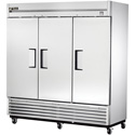 True TS-72F Stainless Steel Reach-In Freezer - Three Door, 72 Cu. Ft.