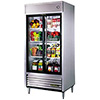 True TSD-33G-LD Reach-in Refrigerator with Two Sliding Glass Doors, 33 Cu. Ft.