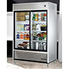 True TSD-47G-LD Reach-In Refrigerator with Two Sliding Glass Doors, 47 Cu. Ft.