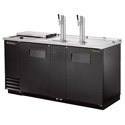 "True TDD-3CT Direct Draw Beer Dispenser - Two Door, Three Keg Capacity, 69""W"