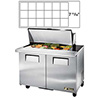 True Mega-Top Sandwich Prep Table - 2 Door - 12 Cu. Ft. - TSSU-48-18MB