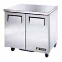 True TUC-48F Undercounter Freezer - Two Door, 12 Cu. Ft.