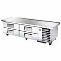 True TRCB-79-86 Refrigerated Chef Base - Extended Worktop - Four Drawer