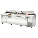 """True TPP-119 Pizza Prep Table for 15 Pans - Four Door, 119""""W"""
