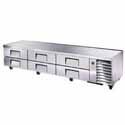 "True TRCB-110 Refrigerated Chef Base - Six Drawer, 110""W"