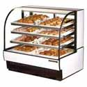 "True TCGD-50 Dry Bakery Case with Curved Glass, 50""W"