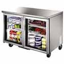 True TUC-48G Undercounter Refrigerator - Two Glass Door, 12 Cu. Ft.