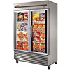 True T-49FG-LD Reach In Freezer with Two Glass Doors, 49 Cu. Ft.