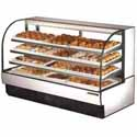 "True TCGD-77 Dry Bakery Display Case - Two Door, 77""W"