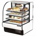 "True TCGR-36 Refrigerated Bakery Case with Curved Glass, 36""W"