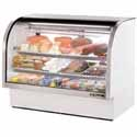 True TCGG-60 Deli Case with Curved Glass - Two Door, 30 Cu. Ft.