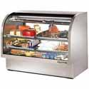 True TCGG60-S Stainless Steel Deli Case with Curved Glass - Two Door, 30 Cu. Ft.